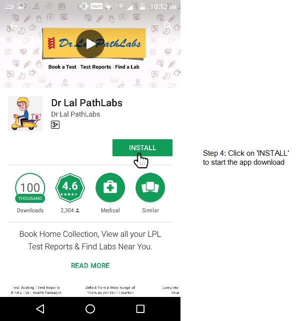Install Dr Lal PathLabs Mobile App