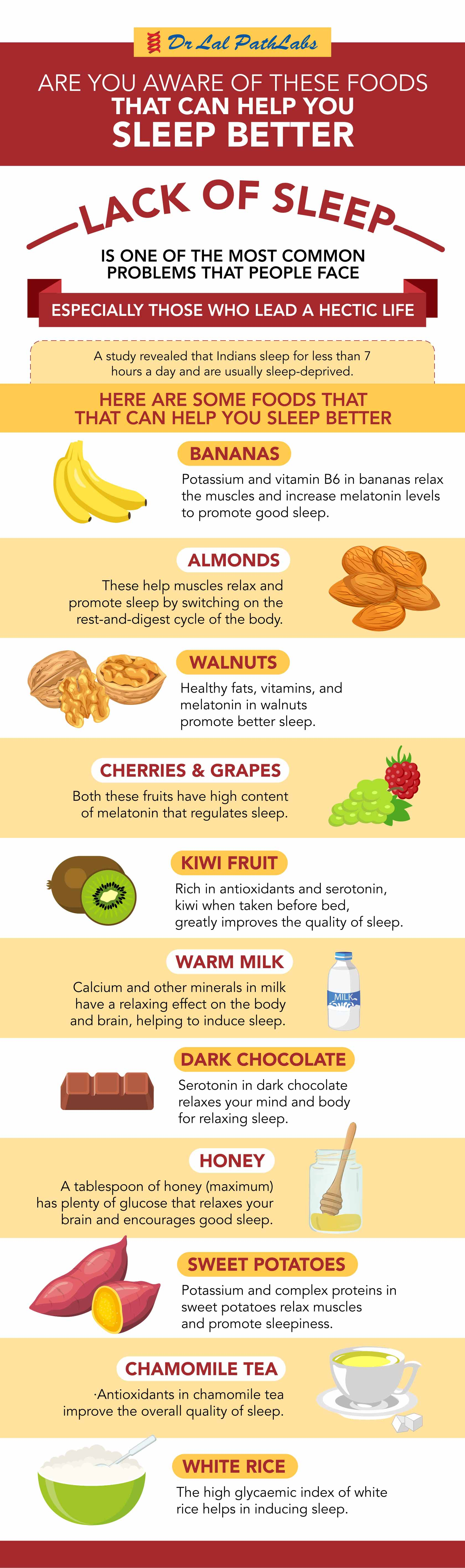 Are you aware of these foods that can help you sleep better